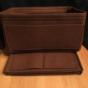 Handbags - Purse Tote L Insert+ Zip Case  Organizer Protector